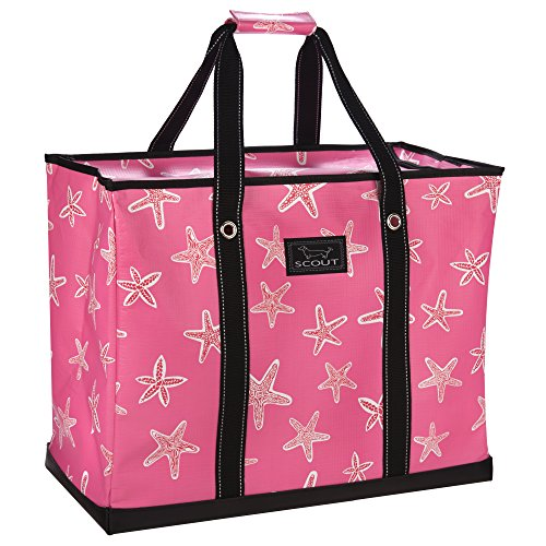 SCOUT 3 Girls Bag, Extra Large Water Resistant, Tote Bag, For the Beach, Pool and Everyday Use, Zips Closed, Urchin Care (Zip Tote Easy)