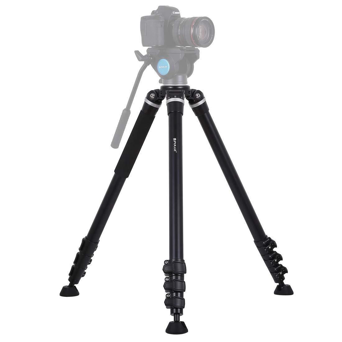 Camera 4-Section Folding Legs Metal Tripod Mount for DSLR/SLR Camera, Adjustable Height: 97-180cm Foldable and Portable by JUNXI