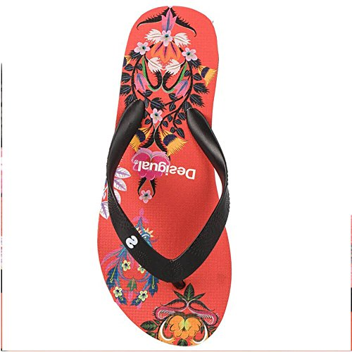 Flip Rouge des43423 Tongs Lola Desigual Flop Liana Compensées ref 3061 qfCxzw
