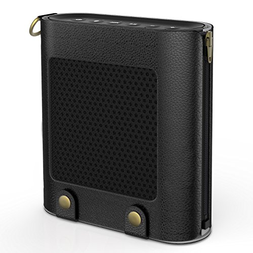 MoKo Carrying Case for Bose SoundLink Color, Portable Bluetooth Speaker Cover PU Leather Protective Bag Sleeve Skins, with Holding Strap & Carabiner, Black