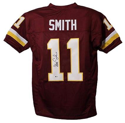 5f03a08d8 Alex Smith Autographed/Signed Washington Redskins XL Red Jersey BAS ...