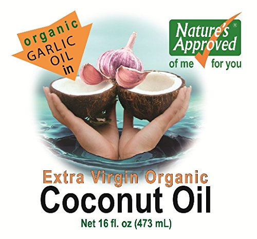Organic Garlic Coconut Oil (16 oz Garlic) by Nature's Approved (Image #3)