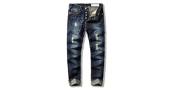 dufjodi Men s Casual Jeans, Vaqueros de Hombre, Vintage ...