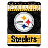 The Northwest Company Officially Licensed NFL Pittsburgh Steelers 12th Man Plush Raschel Throw Blanket, 60