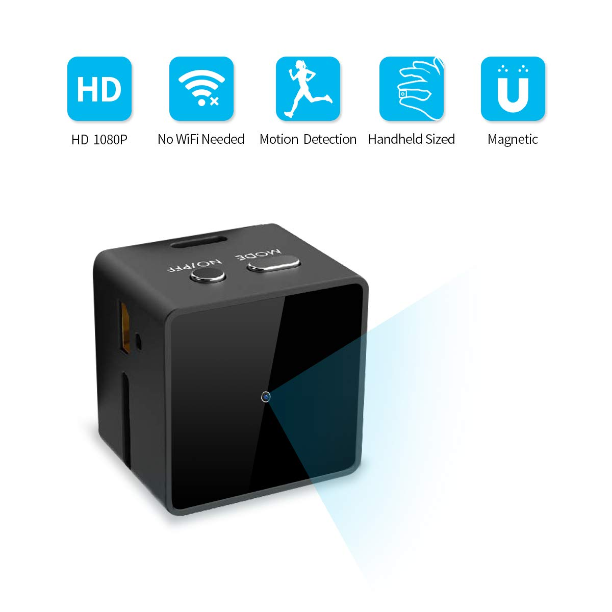 Upgraded Mini Spy Hidden Camera, JOYTRIP Portable HD 1080P Tiny Cube Spy Camera Wireless Hidden Home Security Nanny Cam with Motion Activated AV Output as USB Flash Driver- No WiFi Needed