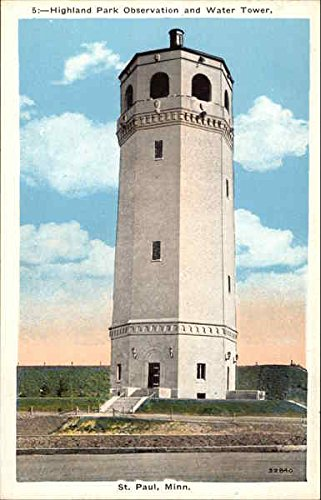 - Highland Park Observatory and Water Tower St. Paul, Minnesota Original Vintage Postcard