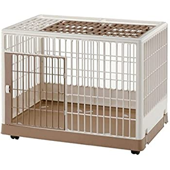 Amazon Com Iris Large Wire Dog Crate With Mesh Roof