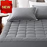 Fitted Quilted Mattress Pad Cover Pillowtop 300TC Down...