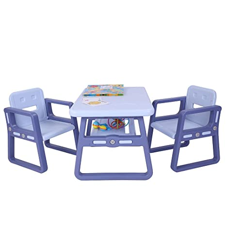 Pleasing Joymor Multipurpose Kids Table And Chair Set Certified Safe And Easy Clean 3 Piece Kids Furniture Set Includes 1 Activity Table With Storage Space Frankydiablos Diy Chair Ideas Frankydiabloscom