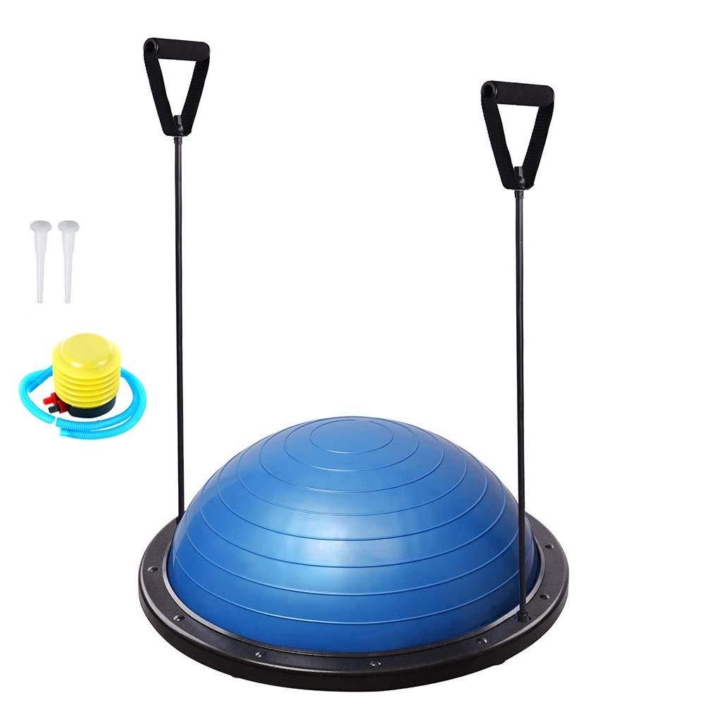 LIJJY 58 cm Balance Ball Balance Trainer Mit Zugbändern, Beidseitig Nutzbar