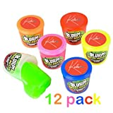 Noise Putty Slime - 12 Fart Sound Small Containers 1.5 Inches Assorted Colors - Perfect Toy For Kids, Boys, Girls, Party Bags, Gift, Prize - By Kidsco