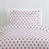 Carousel Designs Amethyst Brush Dots Duvet Cover Queen/Full Size - Organic 100% Cotton Duvet Cover - Made in the USA