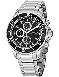 Mens 5038.1 Yacht Club Unidirectional Black Bezel GMT Day and Date Stainless Steel Link Bracelet Watch