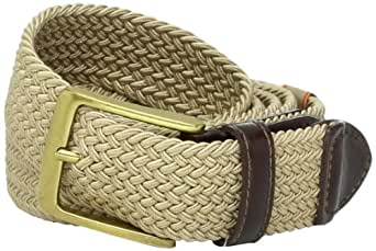 Dockers Men's  1 3/8 in. Braided Canvas Web Belt,Khaki,32