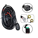 Serpeo LED Light Bar Wiring Harness Kits 12V Amp with 40A Power Relay and Blade Switch