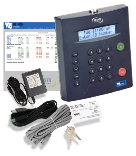 SB-100 PRO 25 Universal Employee Time Clock (Industry First: Manage Timecards via USB, Network or Web). No Monthly Fee.