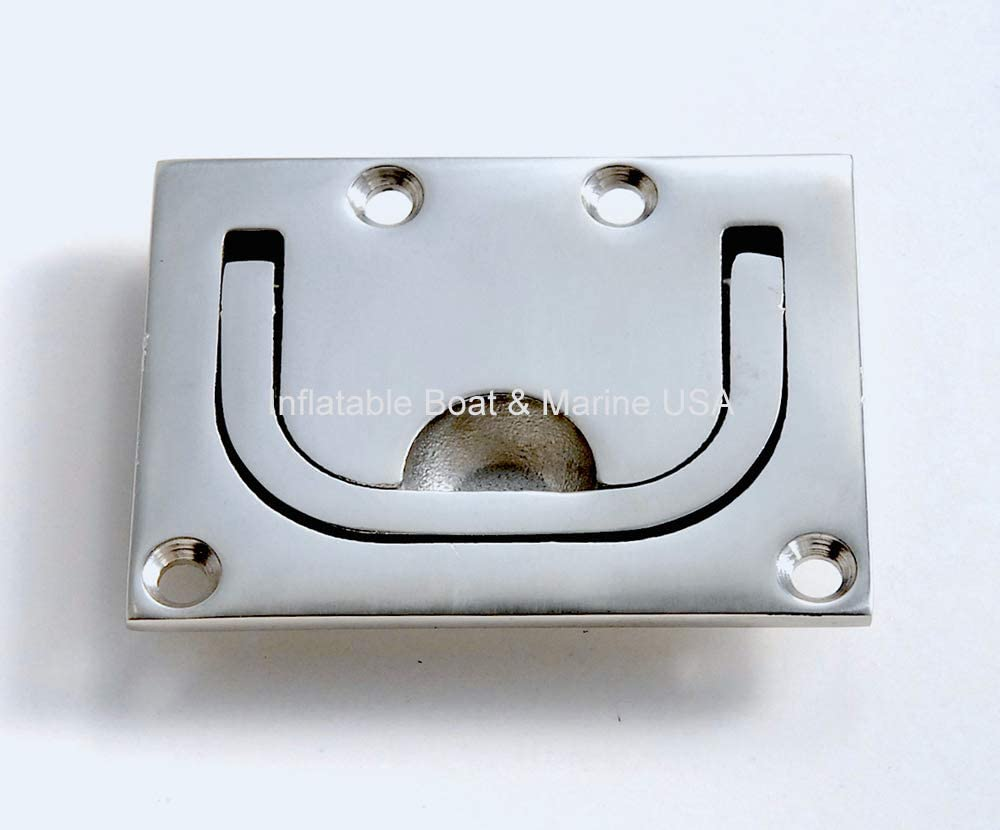 2pcs 316 Stainless Steel Recessed Hatch Lift//Pull Handle Marine Boat Sailing