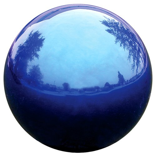 VCS BLU10 Mirror Ball 10-Inch Blue Stainless Steel Gazing Globe