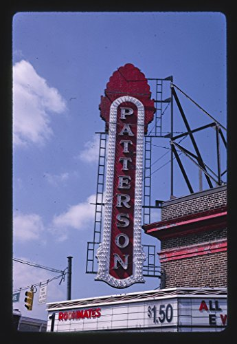 16 x 24 Gallery Wrapped Framed Art Canvas Print of Patterson Theater Sign, Eastern Avenue, Baltimore, Maryland 1995 Roadside Americana Ready to Hang ()
