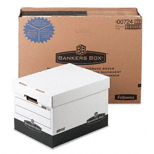 Bankers Box : R-Kive Max Storage Box, Legal/Letter, 12 x 15 x 10, White/Black, 12/Carton -:- Sold as 2 Packs of - 12 - / - Total of 24 Each