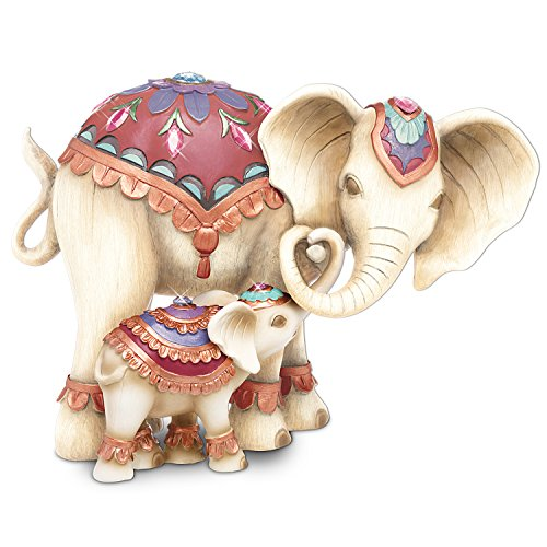 - Mother and Baby Elephant Figurines with Swarovski Crystals:by The Hamilton Collection