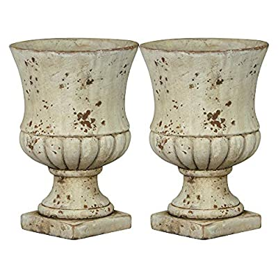 Classic Home and Garden 270001-045-CP2 Remus Urn Set of 2 Planters, Large 2-Pack, Sandstone : Garden & Outdoor