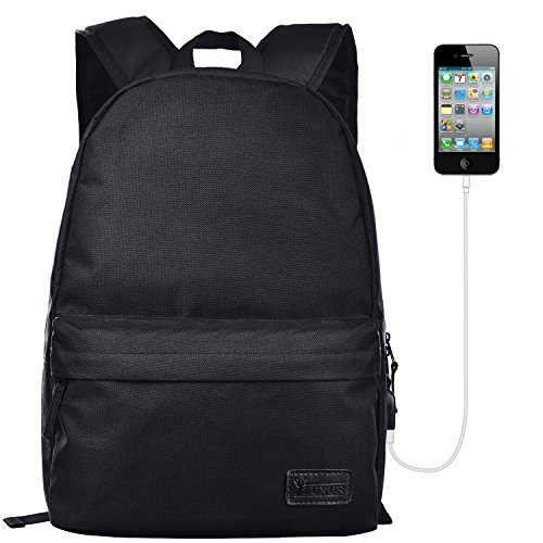 LUXUR 21L Laptop Backpack with USB Charging Port Casual Hiki
