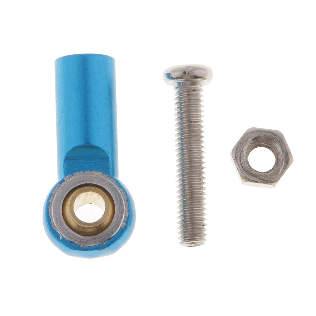 Blue MagiDeal Aluminum Link Rod End Joint Steering Linkage Ball Head M3 Hole Pack of 8