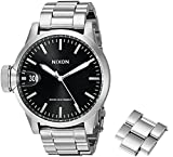Nixon Men's A441000 Chronicle 44 Analog Display Swiss Quartz Silver Watch