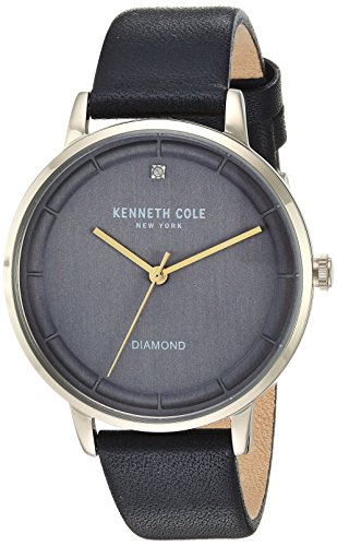 Kenneth Cole New York Women's Quartz Stainless Steel and Leather Casual Watch, Color:Black (Model: KC50010002)