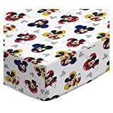 SheetWorld Fitted Basket Sheet - Mickey Mouse - Made In USA - 13 inches x 27 inches (33 cm x 68.6 cm)