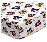 SheetWorld Fitted Crib / Toddler Sheet - Mickey Mouse - Made In USA