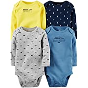 Carter's Baby Boys' 4 Pack Striped Bodysuits (Baby) - Assorted - Newborn