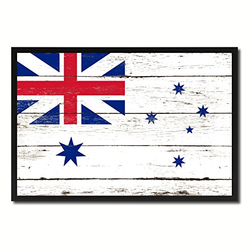 Australian White Ensign City Australia Country Flag Vintage Canvas Print Black Picture Frame Home Decor Wall Art Collectible Decoration Artwork Gifts 7
