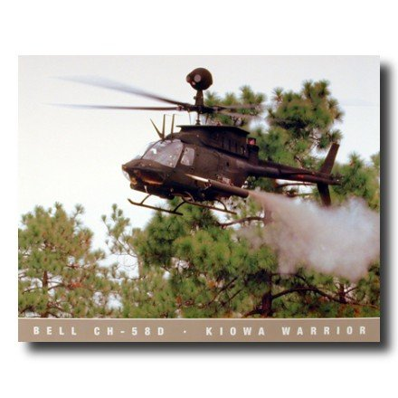 Marine CH 58 D Kiowa Warrior Helicopter Military Photo Wall Picture 16x20 Art -