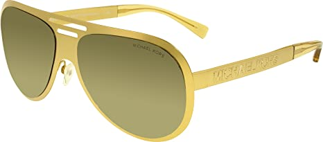 a7fab09f309f Image Unavailable. Image not available for. Colour: Michael Kors Men's  Clementine MK5011-1062R5-59 Gold Aviator Sunglasses