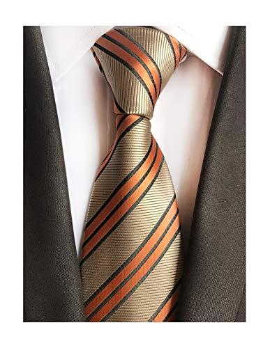 (Men's Orange Bronze Neckties Silk For Men Suit Fitness Dating Fashion prom Ties)