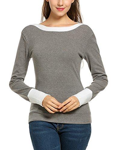 ANGVNS Patchwork Sleeve Shoulder Pullover