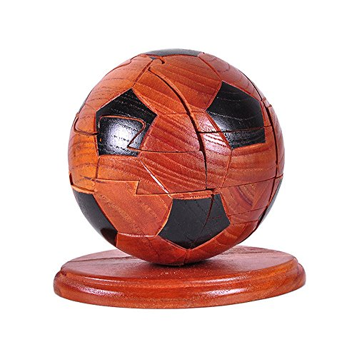 Meao Soccer Ball Wooden Blocks Brain Teaser Puzzles 3D Interlocking Wood Games   Ideal Mind Toys And Gift For Kids And Teens   Can Also Be Used As Exquisite Decoration