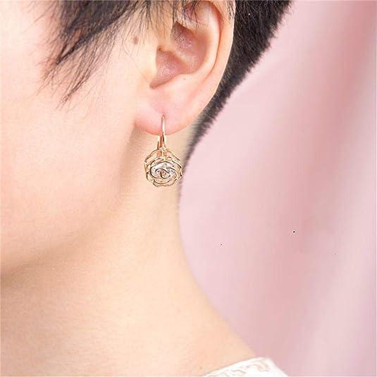 ideale Geschenke f/ür Party Frauen Blume Rose Geschenke f/ür Mutter M/ädchen Mimei Ohrringe 18k Gold plattiert Kristall