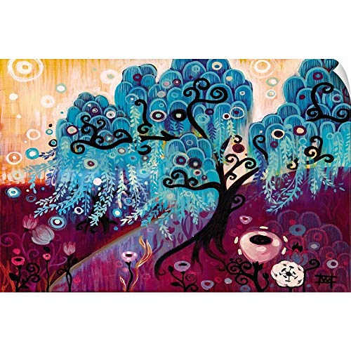 CANVAS ON DEMAND Blue Willow Wall Peel Art Print, 18