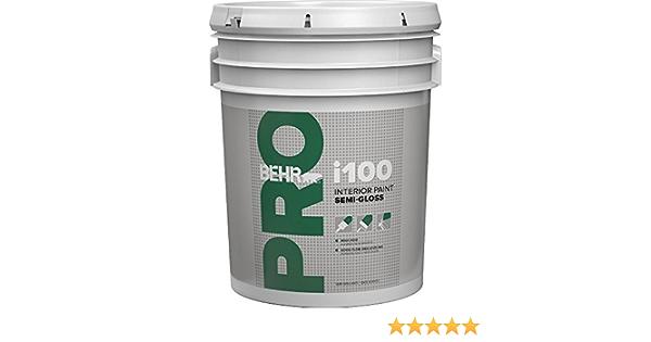 Behr Pr17005 Behr Pro I100 Semi Gloss Interior Paint White 5 Gallon Amazon Com