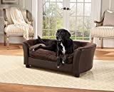 Enchanted Home Pet Ultra Plush Panache Pet Sofa In Pebble Brown, Medium (26 - 50 lbs)