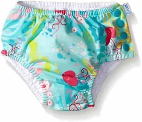 i play. Baby & Toddler Girls' Ruffle Snap Reusable Absorbent Swim Diaper