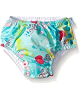 i play. Girls' Ruffle Snap Reusable Absorbent Swim Diaper