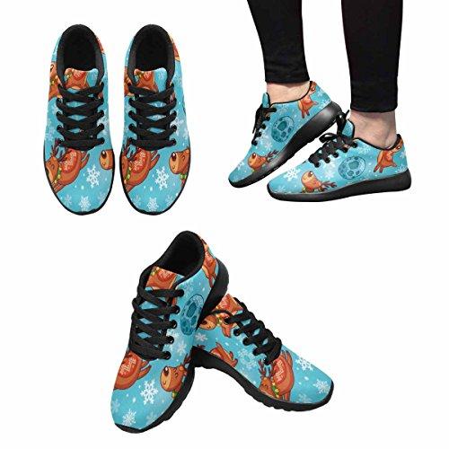 Chaussures De Course De Trailprint Womensprint Footing Jogging Sports Légers Marchant Athlétisme Sneakers Drôles De Personnages Et De Flocons De Neige Multi 1