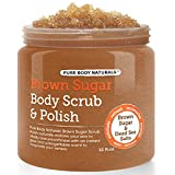 Pure Body Naturals Exfoliating Brown Sugar and Dead Sea Salts Body Scrub, 12 Oz
