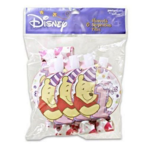 Winnie the Pooh Girl's 1st Birthday Blowouts / Favors (8ct) ()