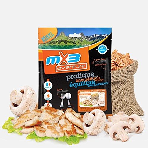 MX3 Adventure Freeze Dried Meal - Pasta con Pollo y champiñónes