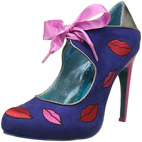 Poetic Licence by Irregular Choice Damen Pucker Up Pumps Blue (Blue (Blue Multi))
